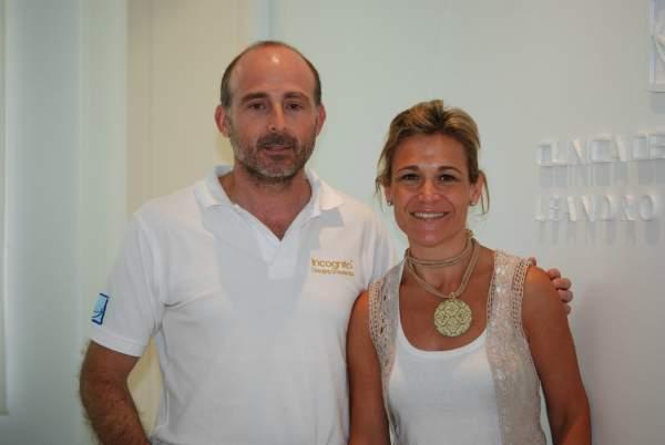 Dra. Julia López Varcárcel y el Dr. Leandro Fernández.