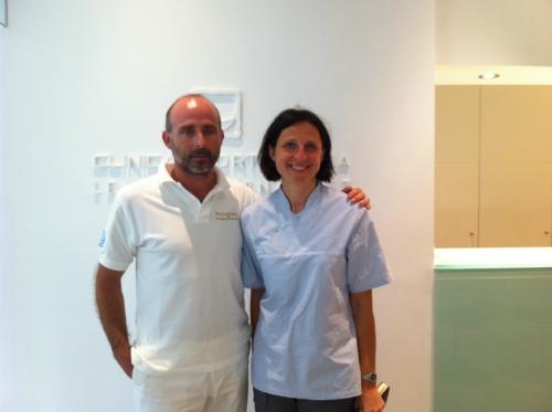 Dra. Dalia Latkauskiene y Dr. Leandro Fernández.