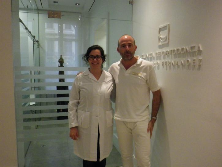 Dra. Lucía Aguirrezabal y Dr. Leandro Fernández.