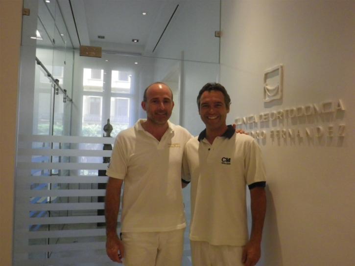 Dr. Gonçalo Oliveira e Sá y Dr. Leandro Fernández.