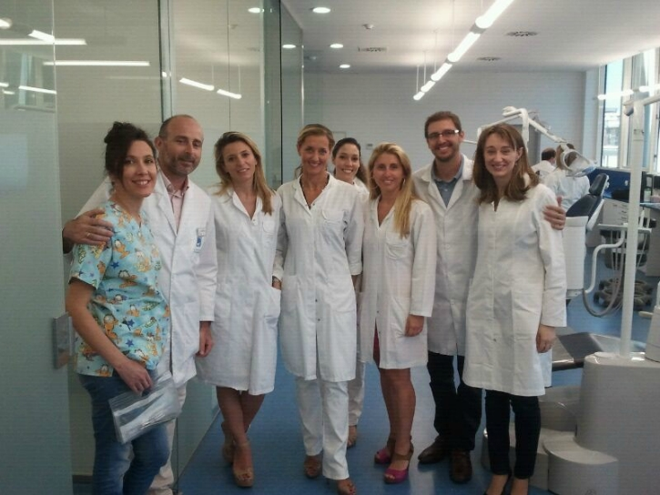 The guest doctors, working group of the Master & Dr. Leandro Fernández.
