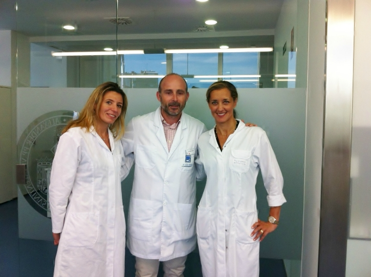 Dra. Catherine Galletti, Dr. Leandro Fernández y Dra. Coralie Fauquet-Roure.