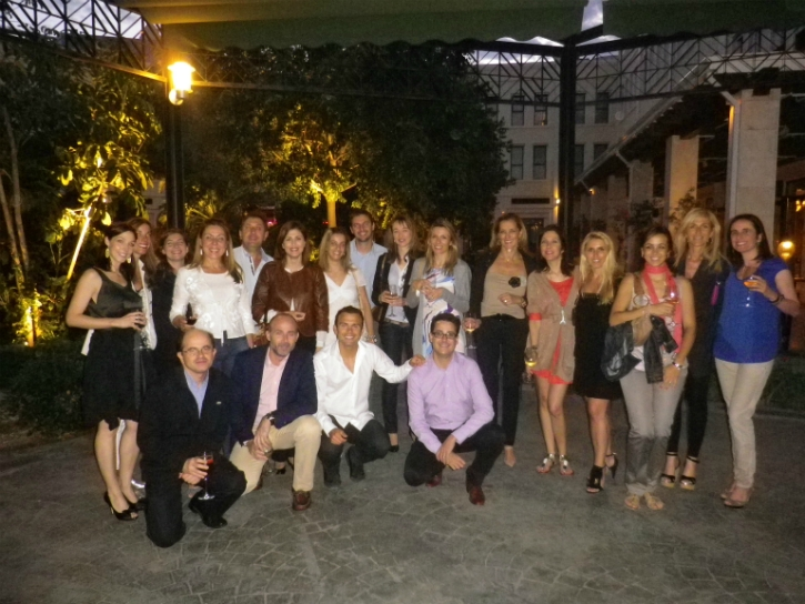 Picture group before the Master's dinner in the guest doctors' honour.