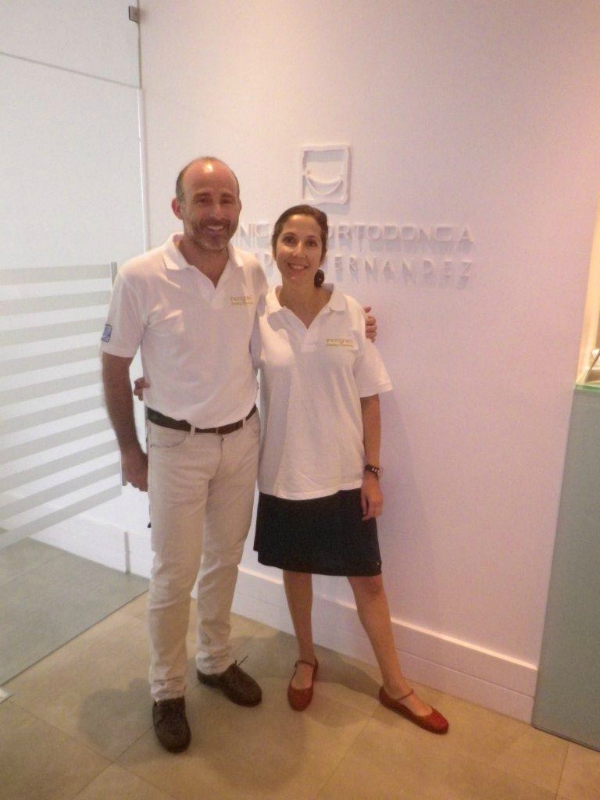 Dra. Libia López y Dr. Leandro Fernández.