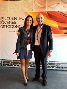 Dra. Irene Dorta, participante al Encuentro y Dr. Leandro Fernández.