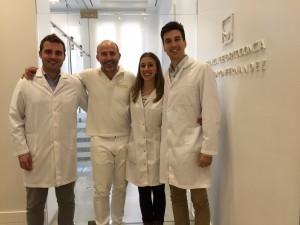 Miguel Floría, Dr. Leandro Fernández, Mar Ramis y Hugo Gómez.