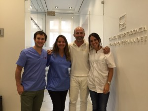 Telmo Iceta, Joana Planas, Dr. Leandro Fernández y Marie Rogé.