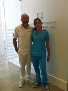 Carla Hajjar y Dr. Leandro Fernández.